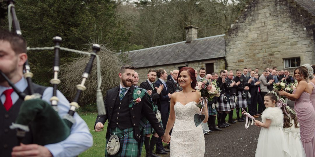 culcreuch castle wedding photography scotland