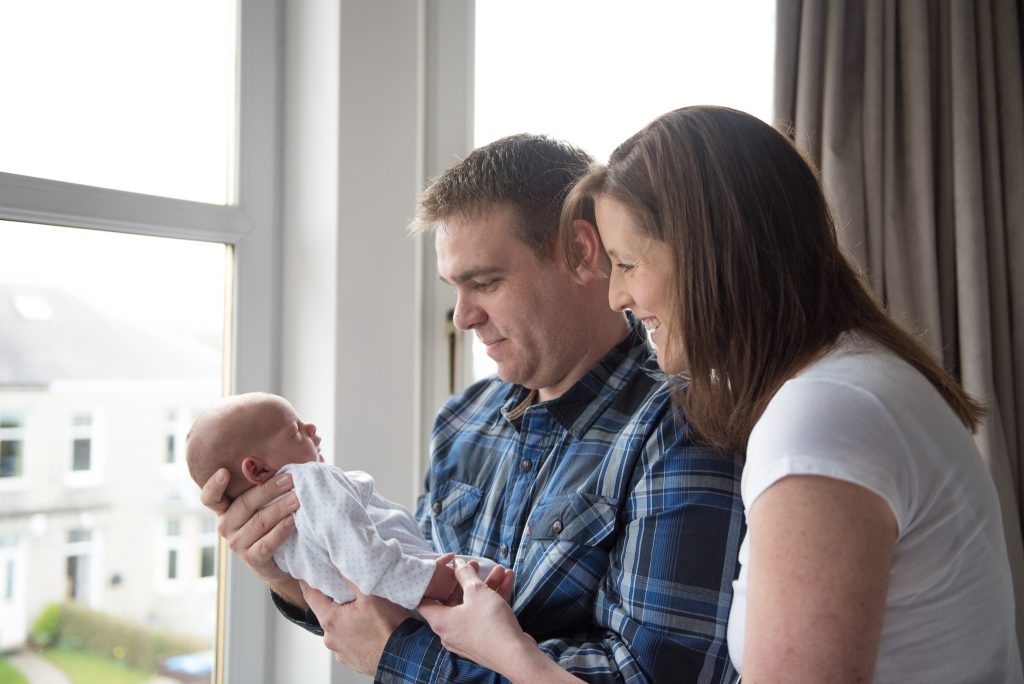 lifestyle newborn photography glasgow