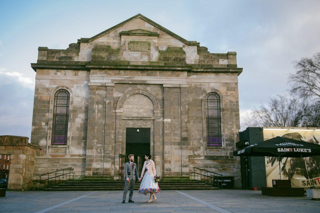 Urban wedding photographer Glasgow Scotland