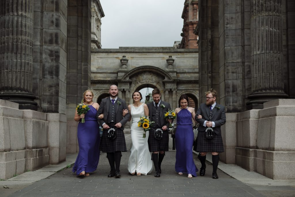 Glasgow City Centre wedding photography